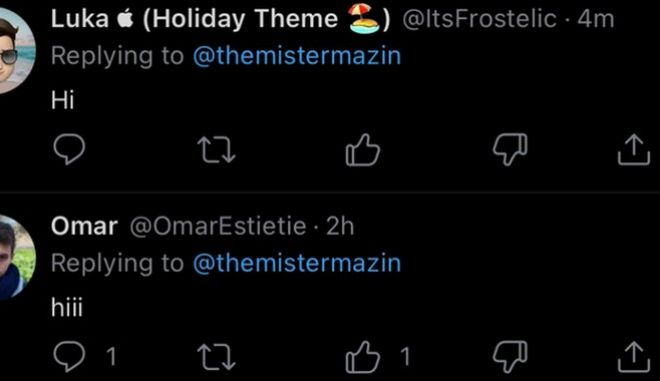 Λίγοι και εκλεκτοί τεστάρουν αυτήν την στιγμή τη δυνατότητα dislike ποσταρισμάτων στο Twitter.