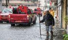 Στιγμιότυπο από πρόσφατες πλημμύρες στην πόλη του πύργου Ηλείας