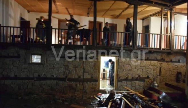Μοναχός τραυματίστηκε από πτώση βράχου σε Μονή στην Βέροια