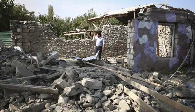 Εικόνα από το Ναγκόρνο Καραμπάχ μετά τις συγκρούσεις Αρμενίας - Αζερμπαϊτζάν