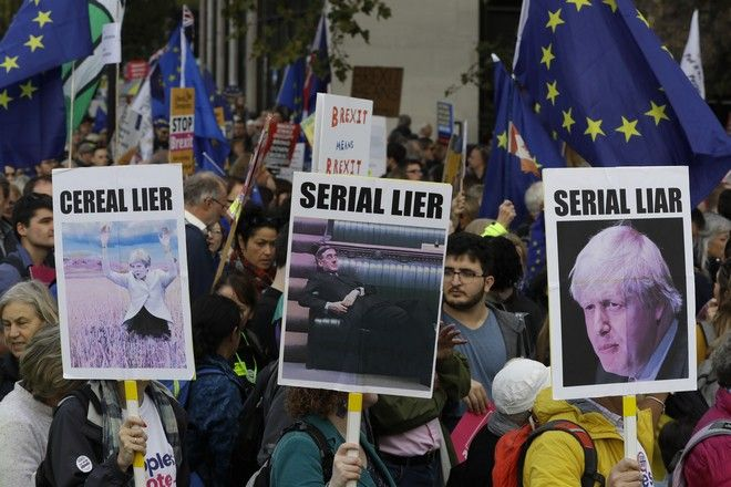 Brexit Χιλιάδες Βρετανοί διαδήλωσαν στο Λονδίνο ζητώντας νέο δημοψήφισμα