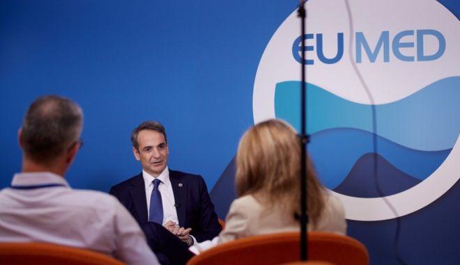 Συνέντευξη του πρωθυπουργού στο περιθώριο της Συνόδου EUMED 9