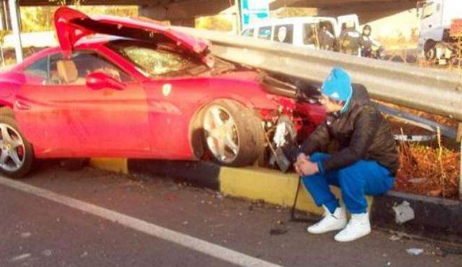 Το αλκοόλ, ο Ουκρανός ποδοσφαιριστής Milevskiy και η διαλυμένη Ferrari California