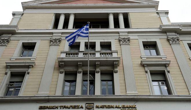 Το κτήριο της Εθνικής τράπεζας στην οδό Σταδίου,Πέμπτη 30 Μαρτίου 2017 (ΤΑΤΙΑΝΑ ΜΠΟΛΑΡΗ/EUROKINISSI)