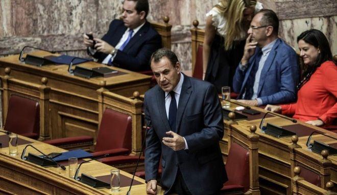 Στο βήμα της Βουλής ο Νίκος Παναγιωτόπουλος