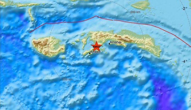 Ισχυρός σεισμός Ρίχτερ στην Ινδονησία - Δεν υπάρχει κίνδυνος για τσουνάμι
