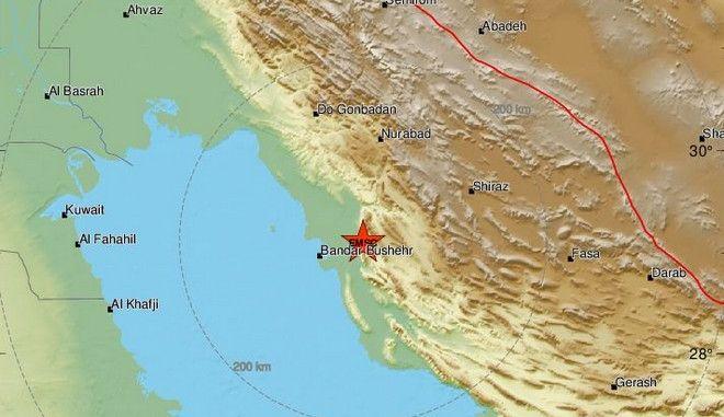 Ιράν: Σεισμός 5,4 ρίχτερ κοντά στον πυρηνικό σταθμό Μπουσέρ