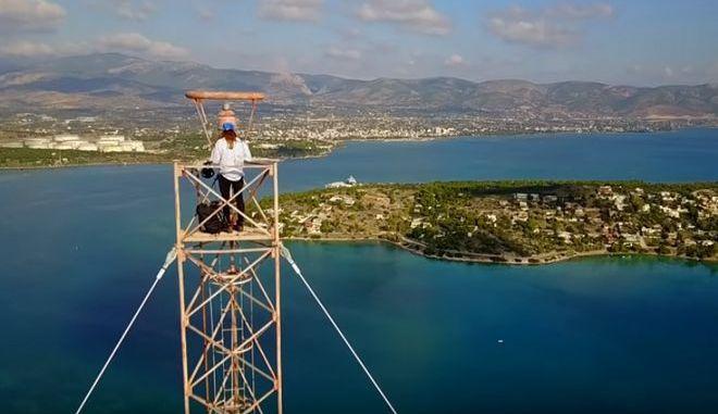 Κωνσταντίνος Οροκλός: Κόβει την ανάσα με ένα ριψοκίνδυνο άλμα