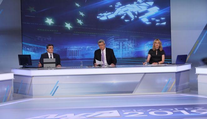 Στην κορυφή τηλεθέασης ο ΑΝΤ1 τη βραδιά των εκλογών
