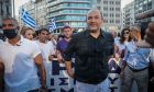 O Φαίδων Βόβολης σε διαμαρτυρία αντιεμβολιαστών