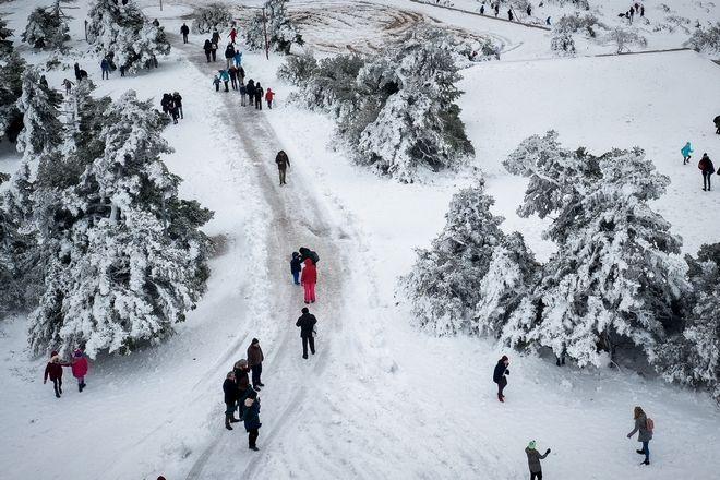 Χιόνια στην Πάρνηθα