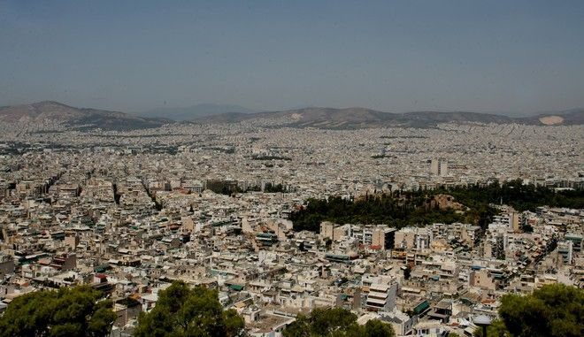 Η πόλη της Αθήνας όπως φαίνεται από ψηλά,Πέμπτη 31 Ιουλίου 2014  (EUROKINISSI/ΤΑΤΙΑΝΑ ΜΠΟΛΑΡΗ)
