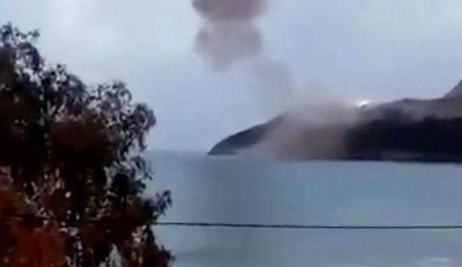 Εικόνα από τον πυρηνικό σταθμό του Ακούγιου μετά τις εκρήξεις