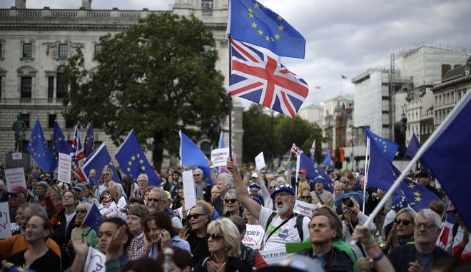 Από συγκέντρωση υπέρ της παραμονής της Βρετανίας στην ΕΕ