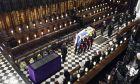 Η κηδεία του πρίγκιπα Φιλίπου στο παρεκκλήσι του Αγίου Γεωργίου στο Κάστρο του Γουίντσορ