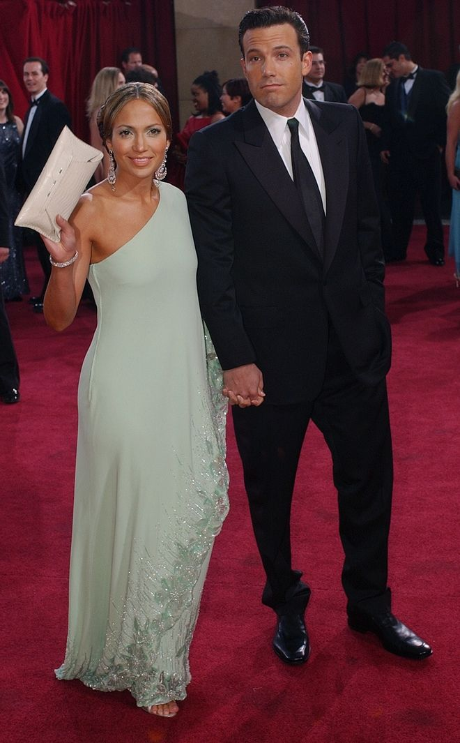 Actors Jennifer Lopez and her fiance Ben Affleck arrive for the 75th annual Academy Awards Sunday, March 23, 2003, in Los Angeles where they will be presenters during the show. (AP Photo/Kim D. Johnson)