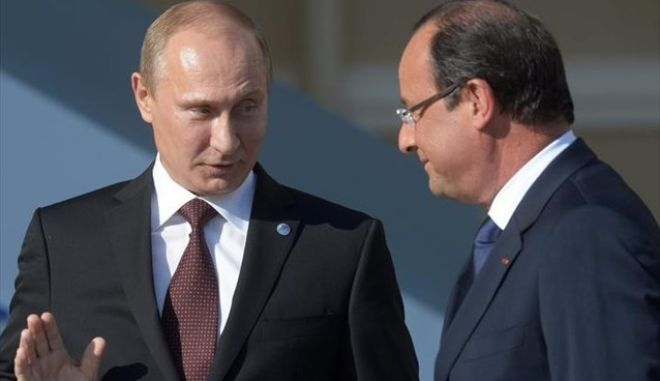 Ολάντ: Η Γαλλία θα συνεργαστεί με τη Ρωσία για τη Συρία