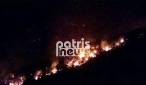 Ηλεία: Ολονύχτια μάχη με τις φλόγες στη Νεμούτα – Παραλίγο να καεί ζωντανός 52χρονος