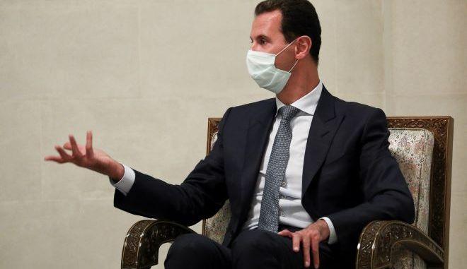 Ο Πρόεδρος της Συρίας Μπασάρ αλ Άσαντ (φωτογραφία αρχείου)