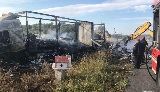 Τροχαίο στην Καβάλα με 11 νεκρούς: Τρεις στο πορτ μπαγκάζ, μη αναγνωρίσιμο το ΙΧ