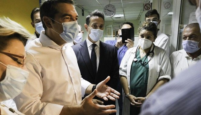 Τον Ευαγγελισμό επισκέφθηκε ο Αλέξης Τσίπρας - Καταγγελίες εργαζομένων για σοβαρές ελλείψεις