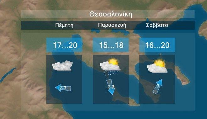 Καιρός: Τοπικές βροχές και παροδικά θυελλώδεις βοριάδες στο Αιγαίο