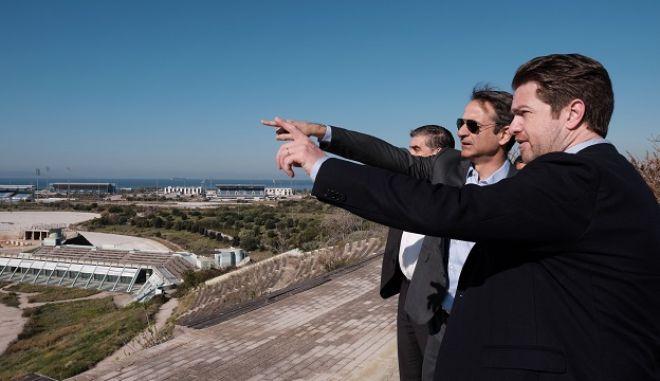 Επίσκεψη του Προέδρου της Νέας Δημοκρατία Κυριάκου Μητσοτάκη στον χώρο του Ελληνικού, όπου ο δήμαρχος Ελληνικού - Αργυρούπολης τον ενημέρωσε για την πορεία του έργου.