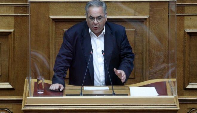 O ΣΤ' αντιπρόεδρος της Βουλής, βουλευτής ΚΚΕ, Γιώργος Λαμπρούλης