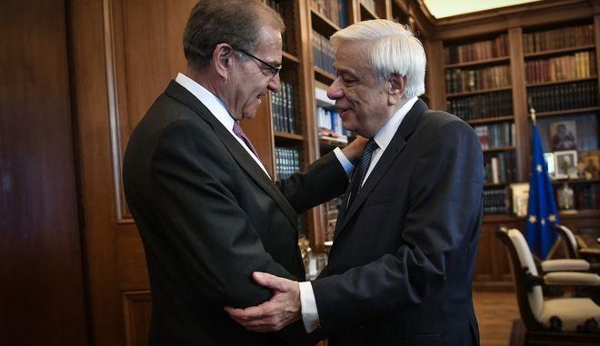 Ο Πρόεδρος της Δημοκρατίας Προκόπης Παυλόπουλος συναντήθηκε σήμερα με τον Υφυπουργό εξωτερικών αρμόδιο για θέματα απόδημου Ελληνισμού κ.Αντώνη Διαματάρη