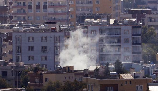 Εικόνα από την επίθεση της Τουρκίας στη Συρία