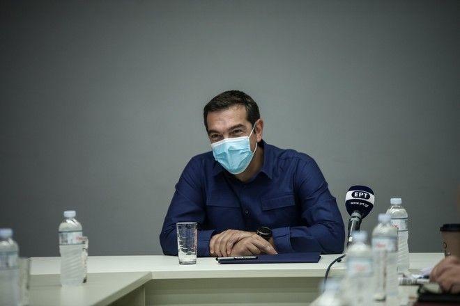 Συνάντηση του προέδρου του ΣΥΡΙΖΑ-Προοδευτική Συμμαχία, Αλέξη Τσίπρα, με την Πανελλήνια Ομοσπονδία Θεάματος Ακροάματος