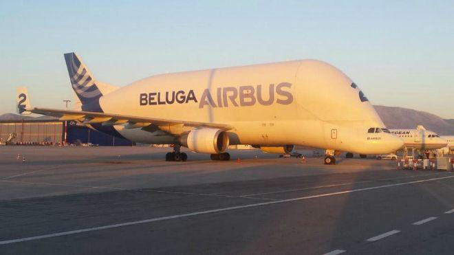Στo Ελευθέριος Βενιζέλος το γιγαντιαίο Beluga Airbus
