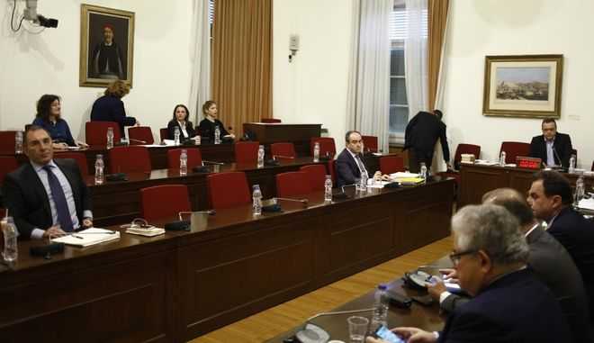 Συνεδρίαση της Εξεταστικής Επιτροπής της Βουλής για τη διερεύνηση της νομιμότητας της δανειοδότησης των πολιτικών κομμάτων, καθώς και των ιδιοκτητριών εταιρειών μέσων μαζικής ενημέρωσης από τα τραπεζικά ιδρύματα της χώρας την Τρίτη 1 Νοεμβρίου 2016. (EUROKINISSI/ΓΙΩΡΓΟΣ ΚΟΝΤΑΡΙΝΗΣ)