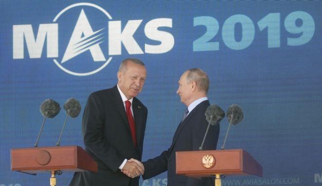 Πούτιν κι Ερντογάν στην αεροδιαστημική έκθεση MAKS.