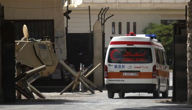 Ασθενοφόρο στην Παλαιστίνη.