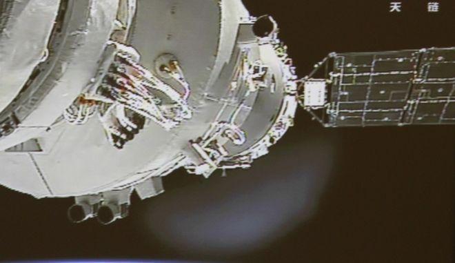 Τμήμα του Tiangong-1 στο διάστημα