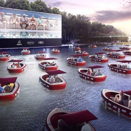 Ο Σηκουάνας μεταμορφώνεται σε πλωτό θερινό σινεμά