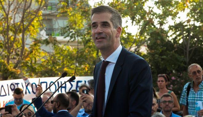 Τελετή ορκωμοσίας του νέου δημάρχου Αθηναίων Κώστα Μπακογιάννη και της νέας δημοτικής αρχής στο Πάρκο της Ακαδημίας Πλάτωνος