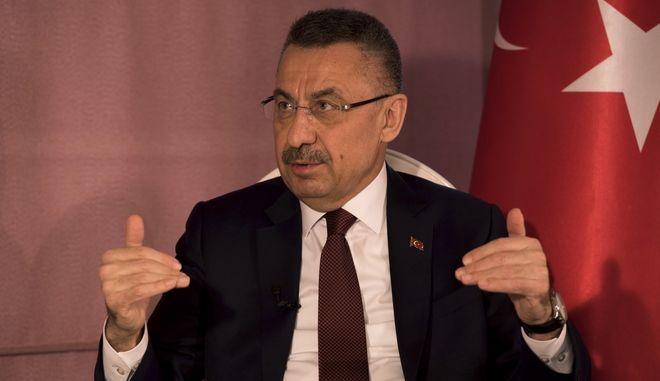 O Τούρκος αντιπρόεδρος Φουάτ Οκτάι
