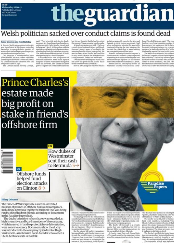 Βρετανία: Αντιδράσεις από τις αποκαλύψεις των Paradise Papers για τον Κάρολο