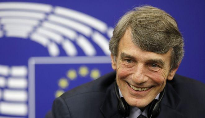 Ο πρόεδρος του ευρωκοινοβουλίου Νταβίντ Σασόλι