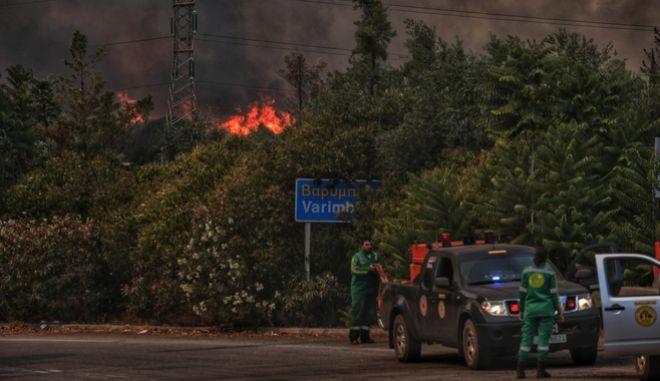 Φωτιά στην Βαρυμπόμπη