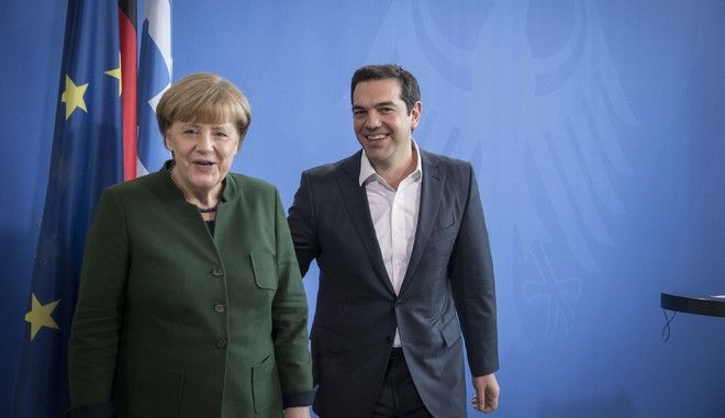 German Chancellor Angela Merkel meets the Greek Prime Minister Alexis Tsipras at the chancellery in Berlin, Germany on Dec. 16, 2016 /                 ,  16 , 2016