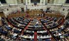 Ψηφοφορία των σχεδίων νόμων του Υπουργείου Περιβάλλοντος και Ενέργειας για την κύρωση Συμβάσεων Μίσθωσης για την παραχώρηση του δικαιώματος έρευνας και εκμετάλλευσης υδρογονανθράκων σε θαλάσσιες περιοχές της χώρας.