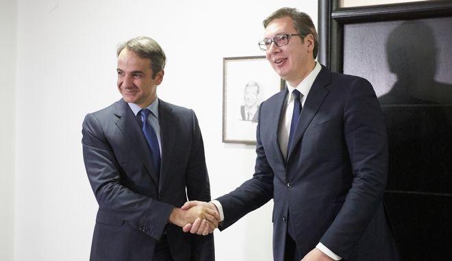 """Μητσοτάκης σε Βούτσιτς: """"Η Ελλάδα θέλει τη Σερβία μέλος της ΕΕ"""""""
