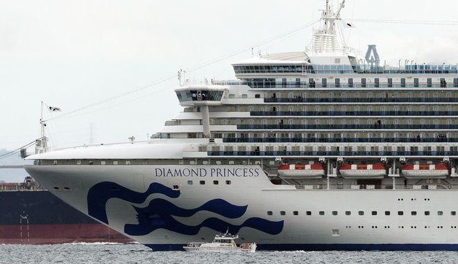 Το κρουαζιερόπλοιο Diamond Princess βρίσκεται ακόμα σε καραντίνα