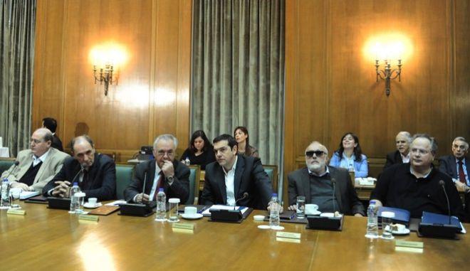Συνεδρίαση του υπουργικού συμβουλίου, στο κτίριο της Βουλής, Τρίτη 10 Νοεμβρίου 2015. (EUROKINISSI/ΤΑΤΙΑΝΑ ΜΠΟΛΑΡΗ)