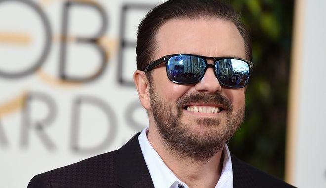 Ο Ricky Gervais στις Χρυσές Σφαίρες το 2016