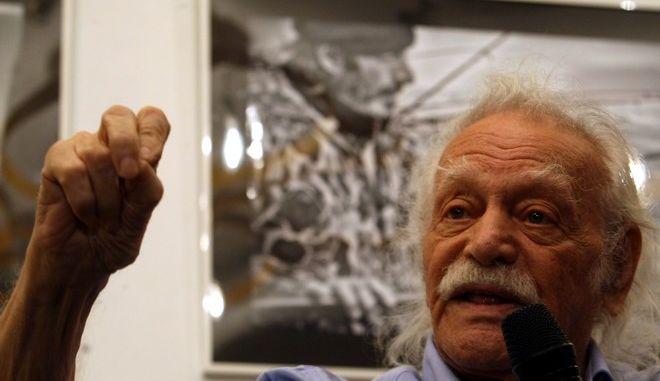 Παρουσίαση του βιβλίου της Ρένας Δούρου, Περιφερειάρχη Αττικής, με τίτλο «Μια κουβέντα με τον Γλέζο», παρουσία του  προέδρου του ΣΥΡΙΖΑ, Αλέξη Τσίπρα, Αθήνα, 25 Ιουνίου 2014. (EUROKINISSI/ΤΑΤΙΑΝΑ ΜΠΟΛΑΡΗ)