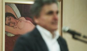 Speech by Euclid Tsakalotos about the plan of SYRIZA Party after the memoranda, in Piraeus, on Mar. 28, 2018 /             ,  ,  28 , 2018